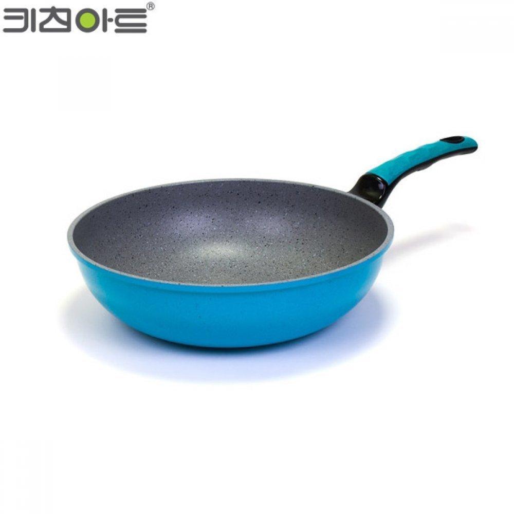 키친아트 칼라스톤 궁중팬 30cm 블루