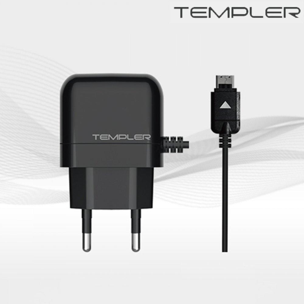 [더산3M]템플러 0.7A 가정용 일체형 구형 충전기 통합 20핀/갤럭시/아이폰/핸드폰/고속충전기/충전/USB