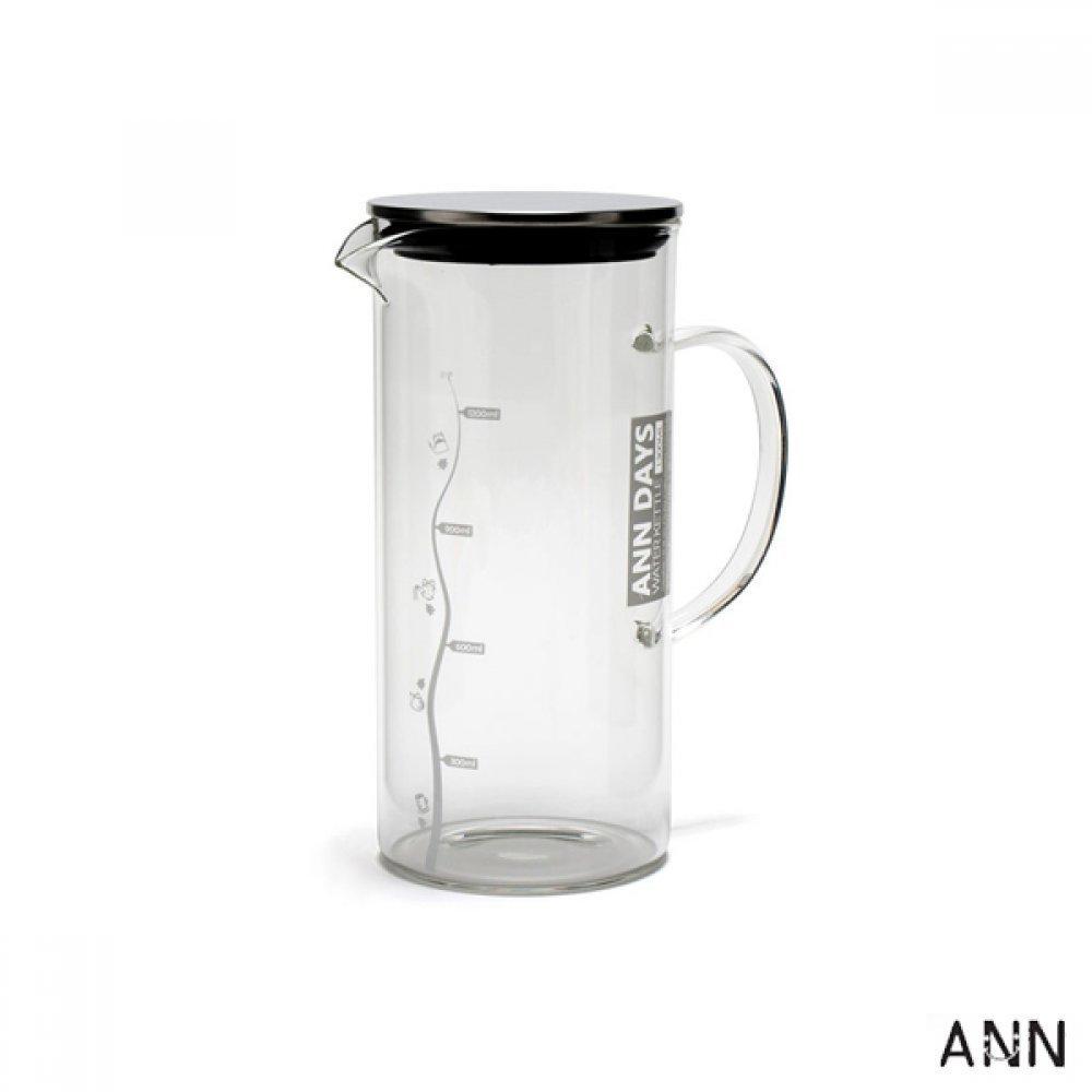 [더산3M]앤 내열유리 물병 kettle 1300ml/물병/주방용품/물통/텀블러/보틀/보냉물병/유리물병