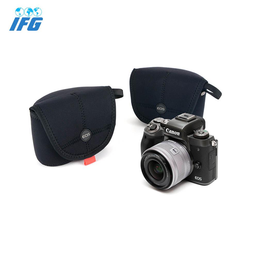 IFG 네오프렌 EOS 로고 카메라 케이스 파우치 캐논용