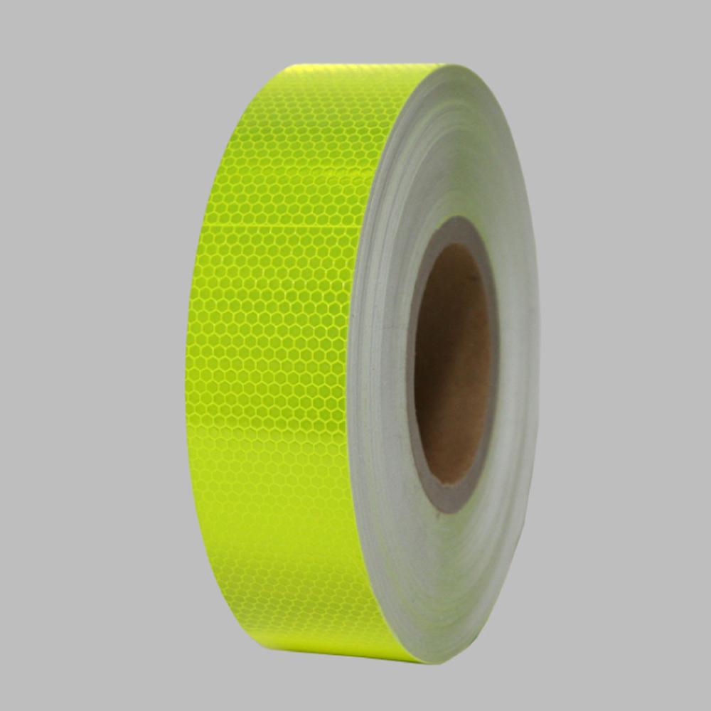벌집무늬 반사 테이프 50mm x 50M 형광노랑