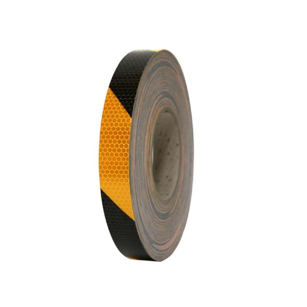 벌집무늬 반사 테이프 사선 25mm x 50M 황흑사선