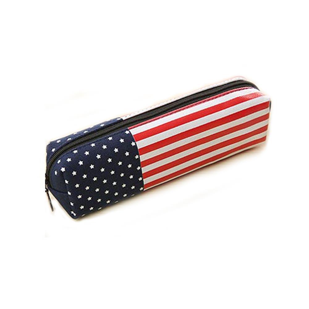 국기 디자인 필통 미국국기모양 필통