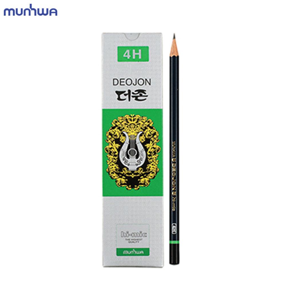 문화 더존 연필 4H 12개입 미술용 학습용