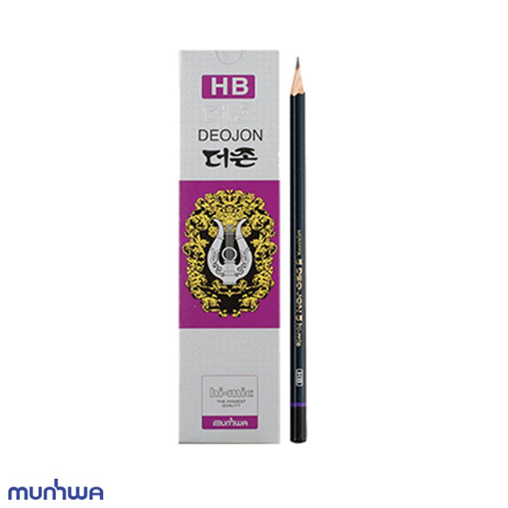 문화 더존 연필 HB 12개입 미술용 학습용