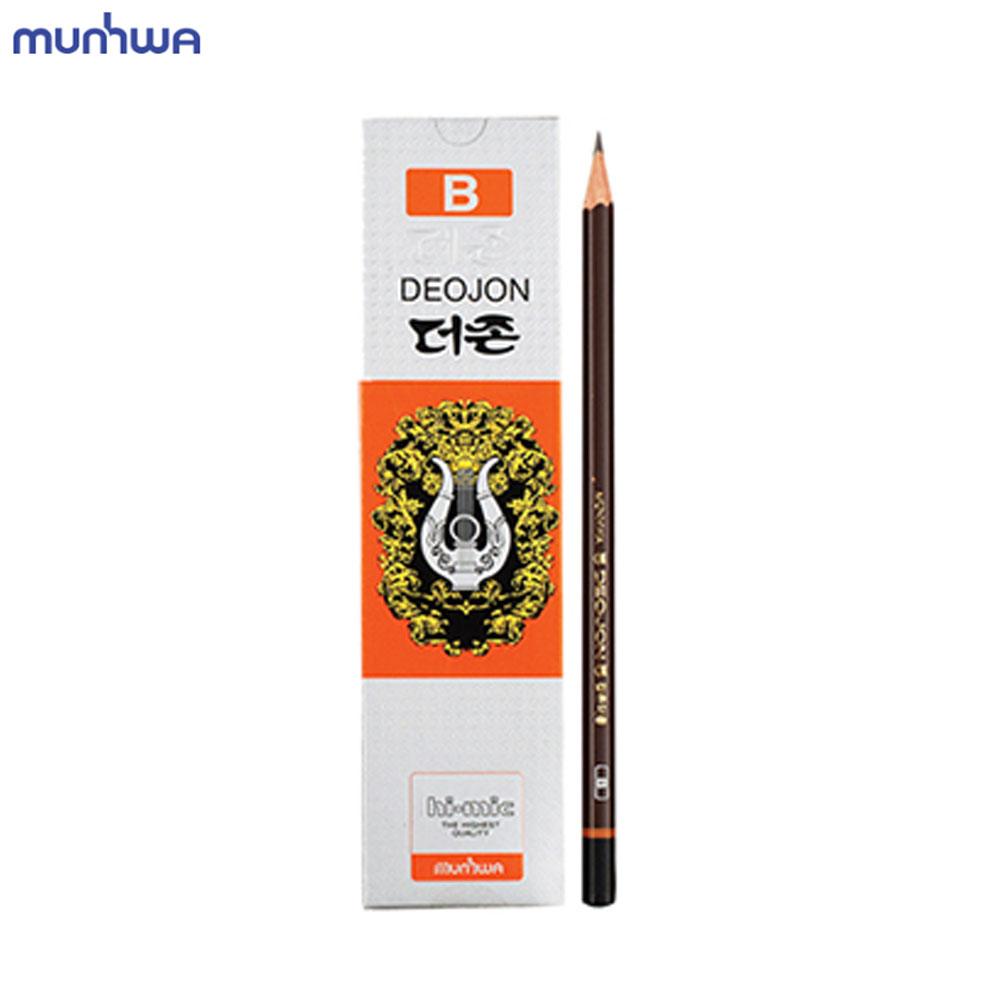 문화 더존 연필 B 12개입 미술용 학습용