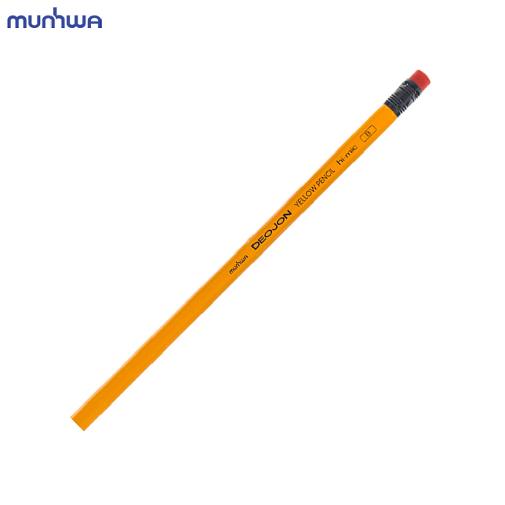 문화 더존 옐로우연필 B 12개입 지우개연필