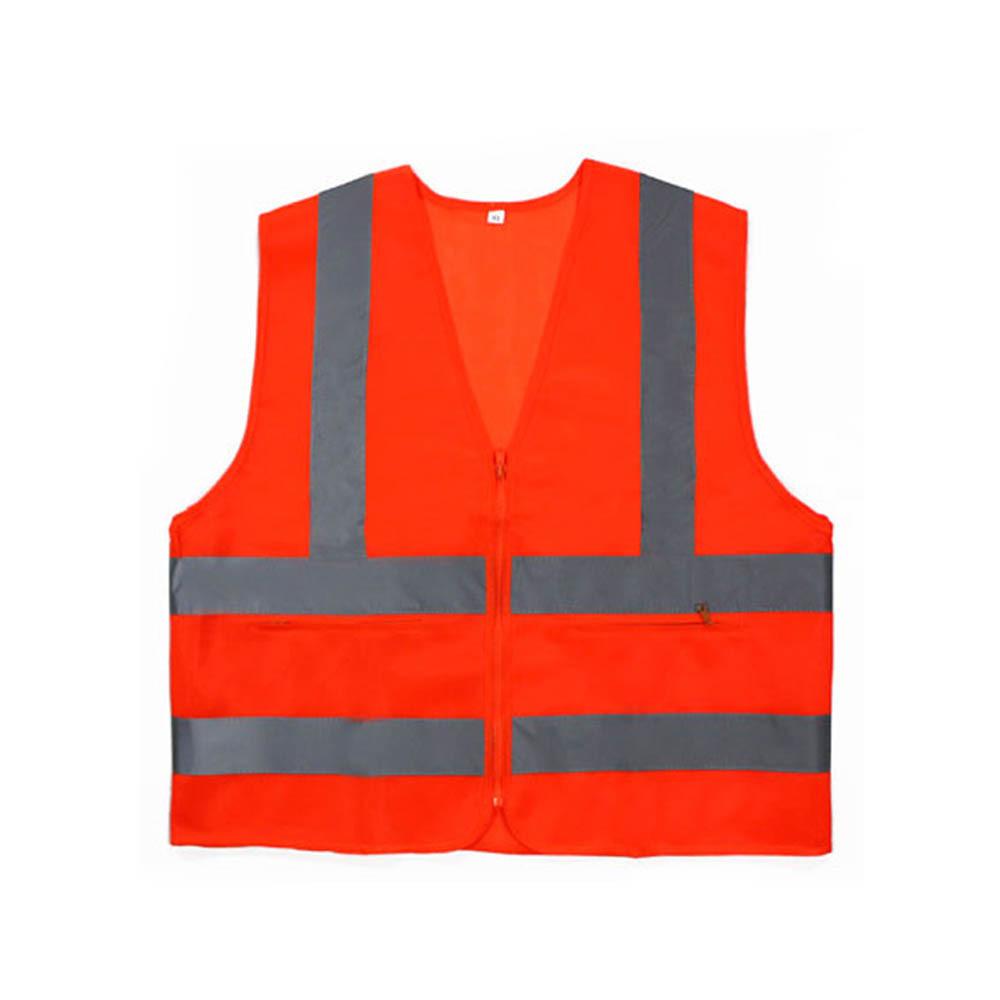 신호수조끼 MR-303-5 안전조끼 천 오렌지 회색띠 XXXL