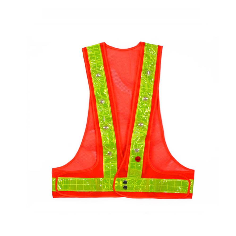 신호수조끼 MR-503 LED 안전조끼 오렌지 형광띠