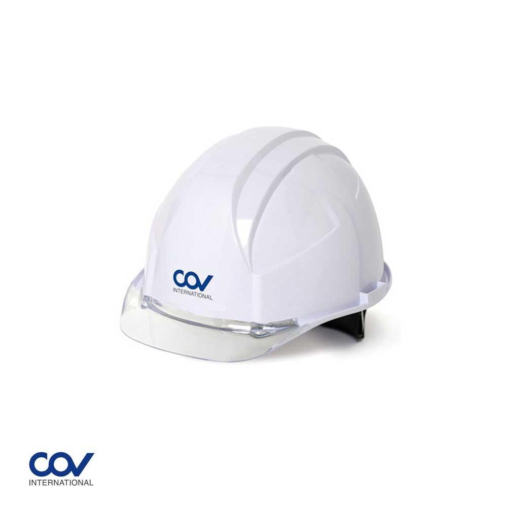 코브 안전모 A형 투명창 귀형 백색