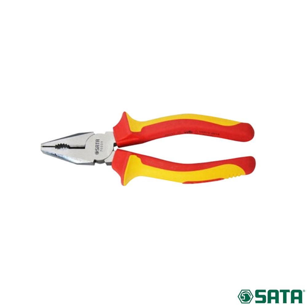 사타 절연 펜치 플라이어 171mm 수공구