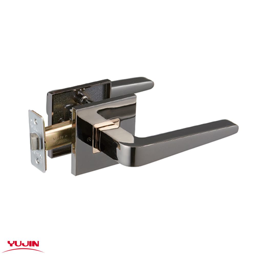 N7 유진 660 BLGD 블랙골드 목문 방문손잡이 욕실용