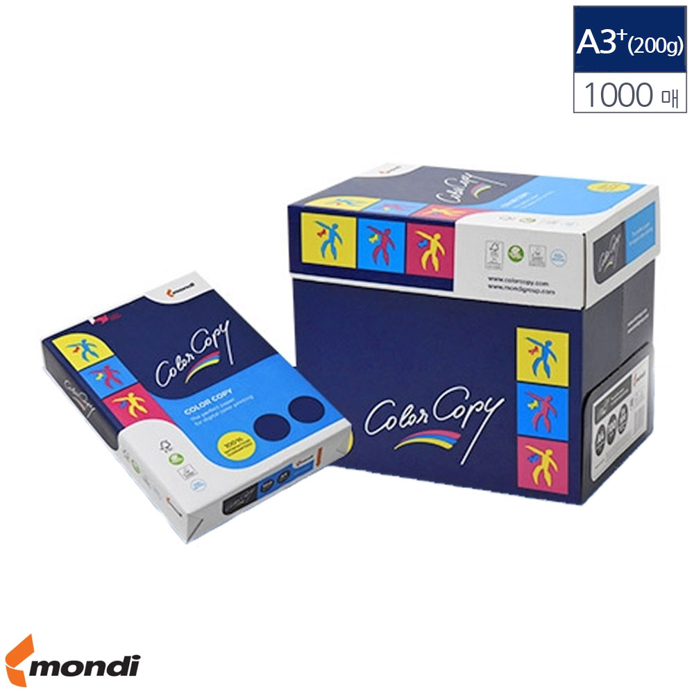 1000매 200g A3 전용지 컬러 레이져 Plus 305x457