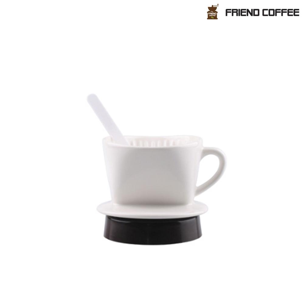 프랜드 도자기 커피 드리퍼 101 화이트 1-2인용