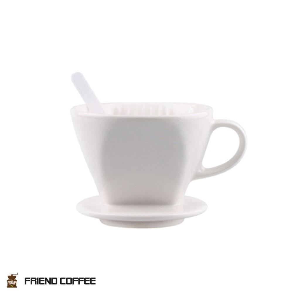 프랜드 도자기 커피 드리퍼 102 화이트 3-4인용