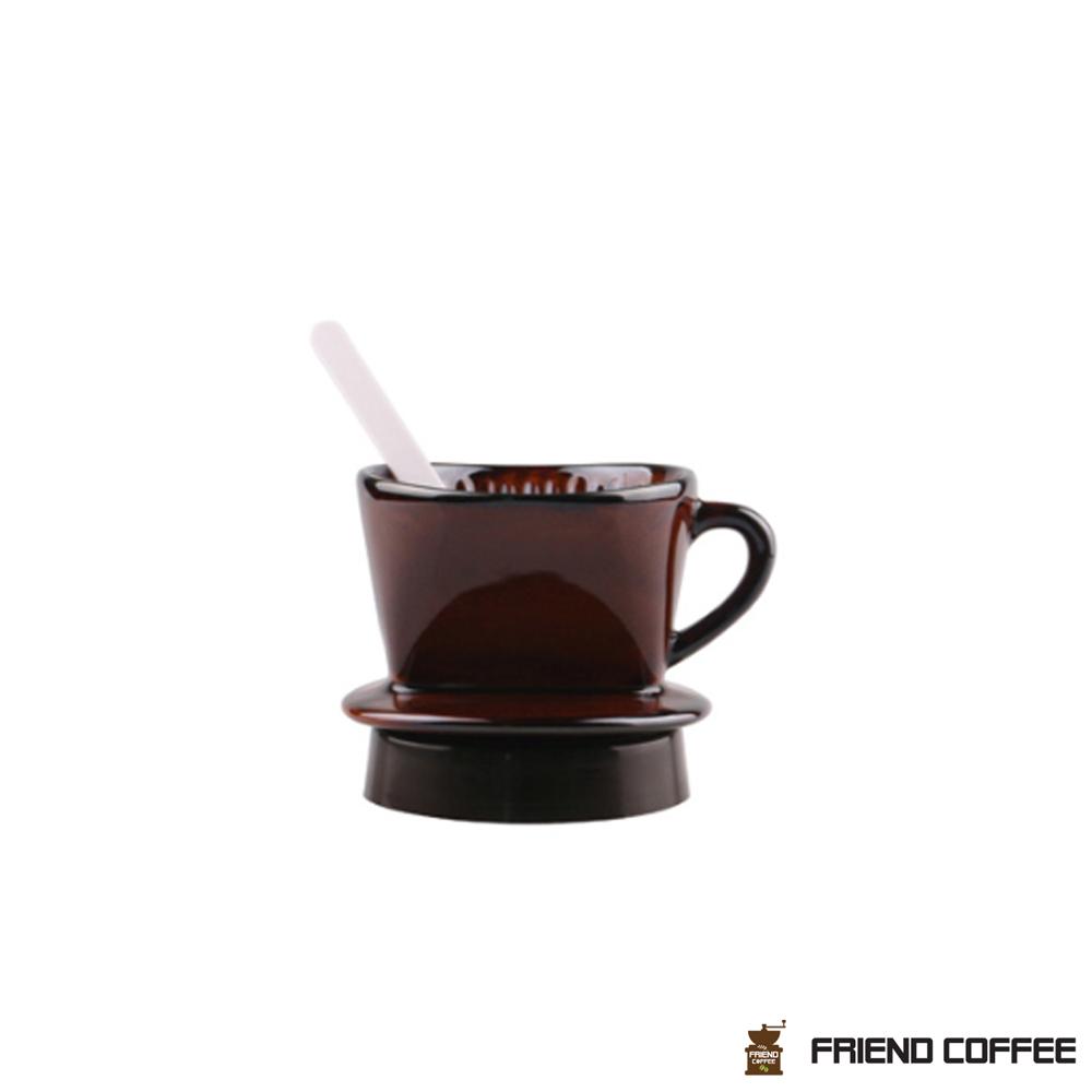 프랜드 도자기 커피 드리퍼 101 브라운 1-2인용