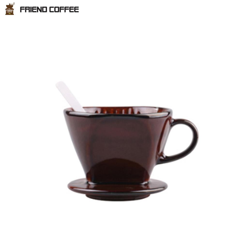 프랜드 도자기 커피 드리퍼 102 브라운 3-4인용