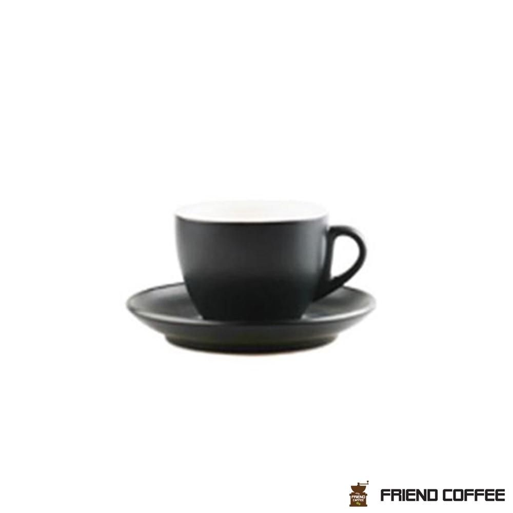 YJ 카푸치노 커피잔 받침 블랙무광 200ml