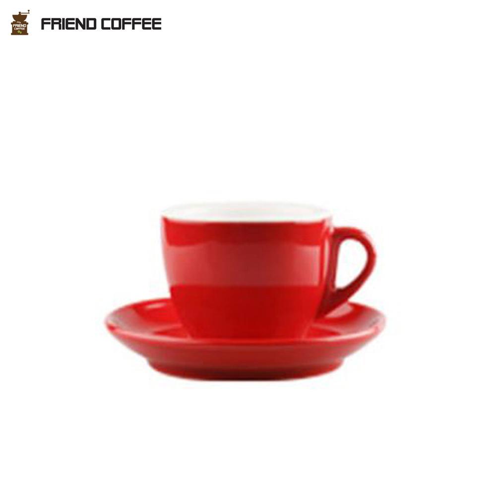 YJ 드립커피 커피잔 받침 레드 250ml