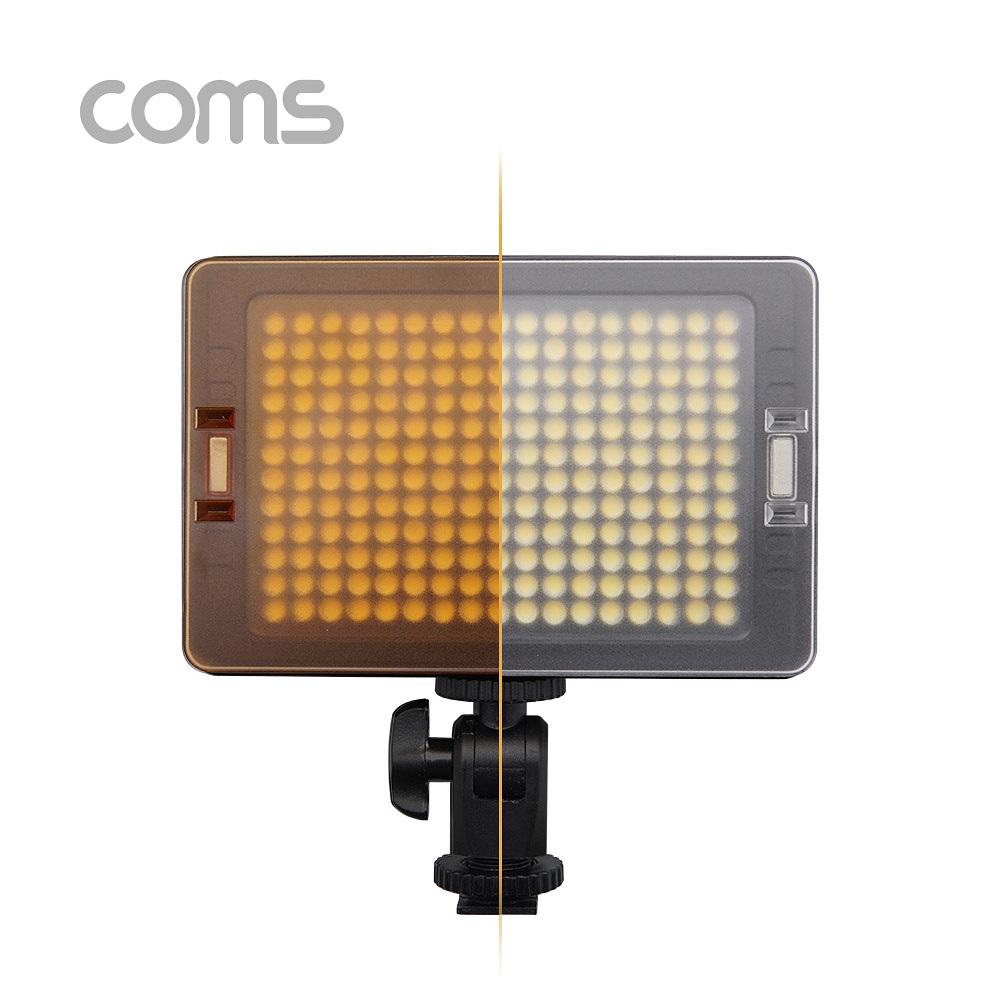 [더산3M]컴스 촬영 204 다용도 LED 플래시 라이트 ID428/LED조명/사진촬영/동영상촬영/인터넷방송/디퓨져포함/건전지식