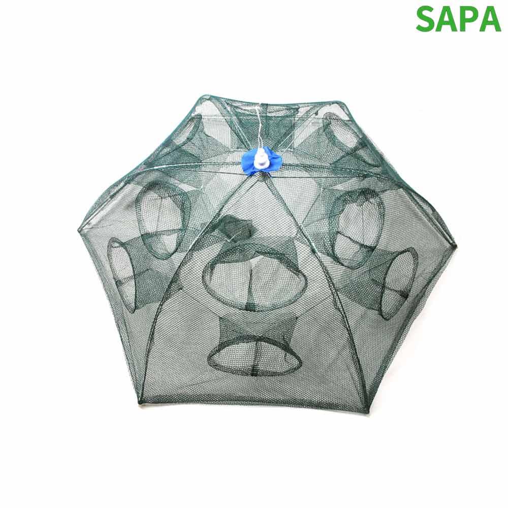 싸파 6각 12구 우산형 새우망 통발 새우채집망