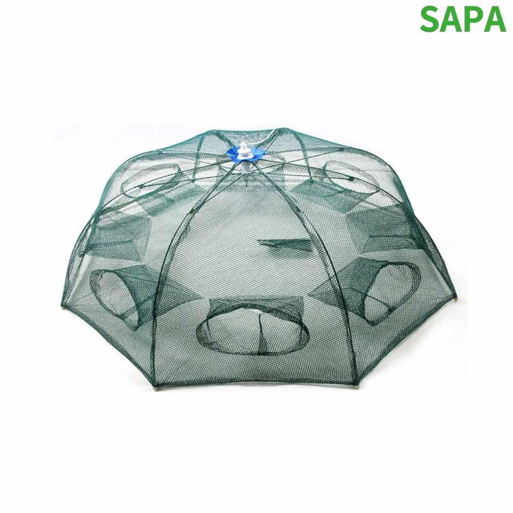 싸파 8각 8구 우산형 새우망 통발 새우채집망