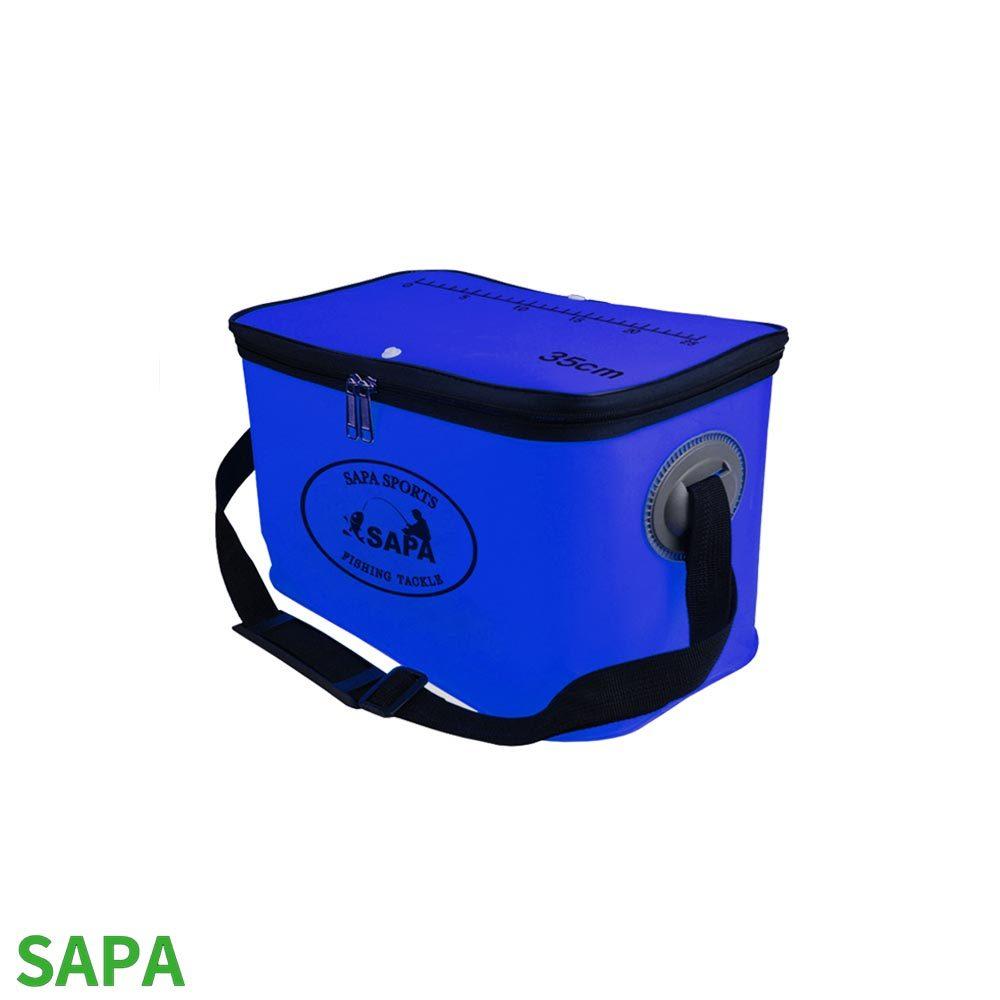 싸파 사각 크릴백 밑밥통 소형 파란색