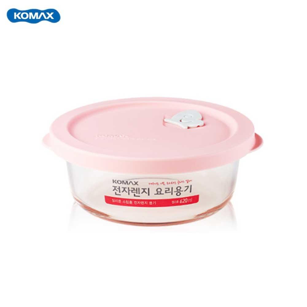 코멕스 전자렌지용 유리용기 밀폐용기 원2호