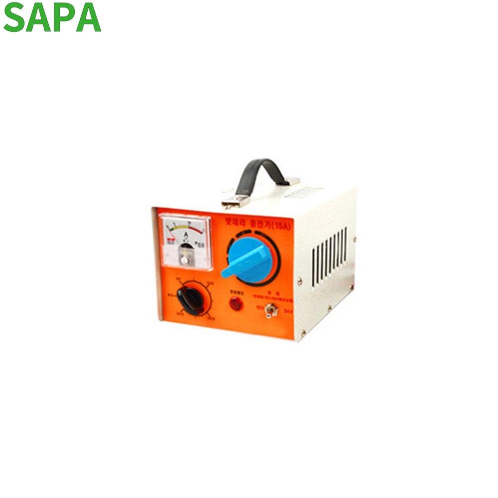 성진 차량용 배터리 충전기 12-24V 겸용 SJ-15A