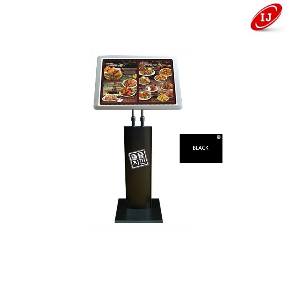 라운드 480x360 메뉴판 BK-1600 검정 거치대