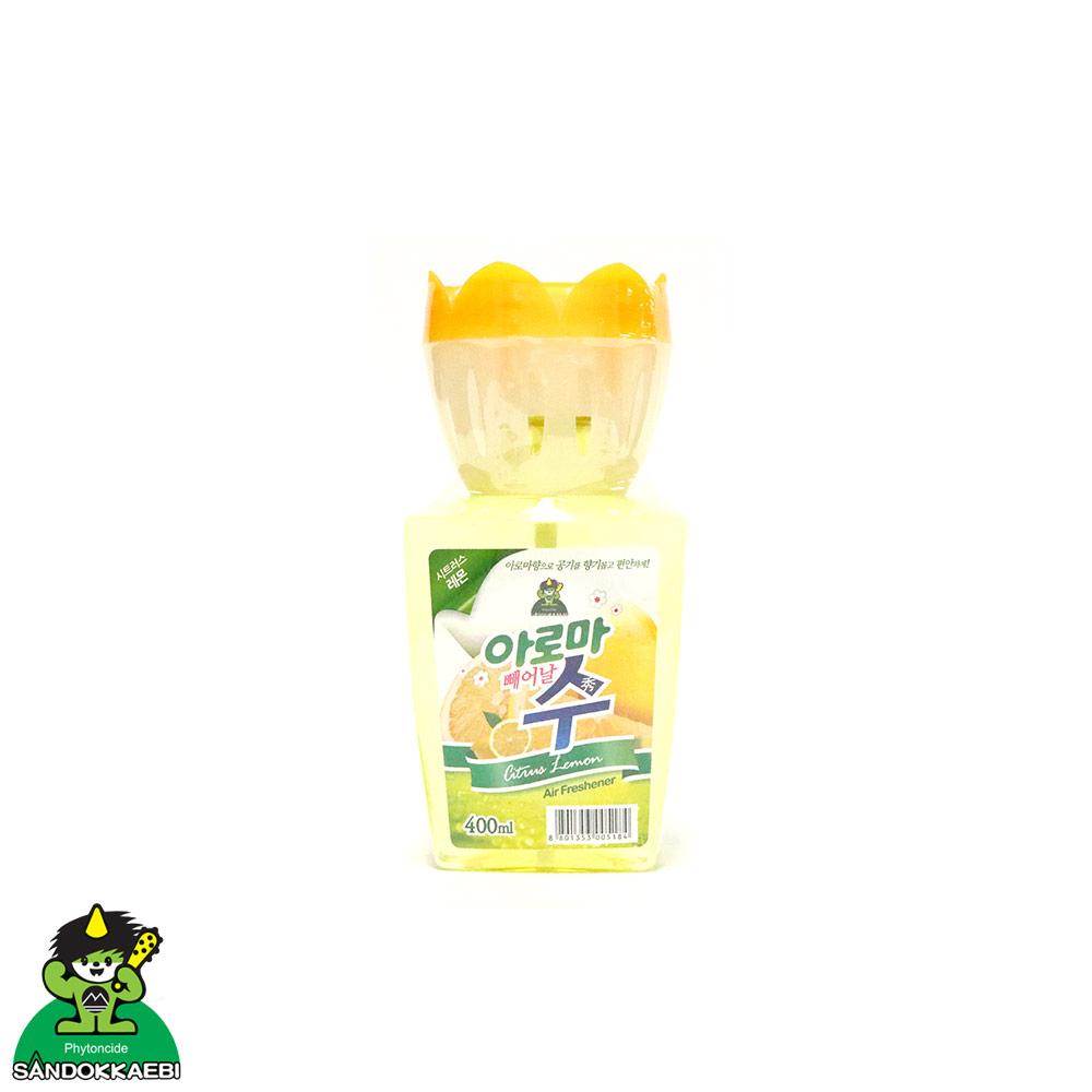 [더산3M]산도깨비 아로마 수 방향제 레몬 400ml/사무실방향제/옷장방향제/실내방향제/디퓨져/탈취제/냄새제거/차량냄새/담배냄새/신발장냄새