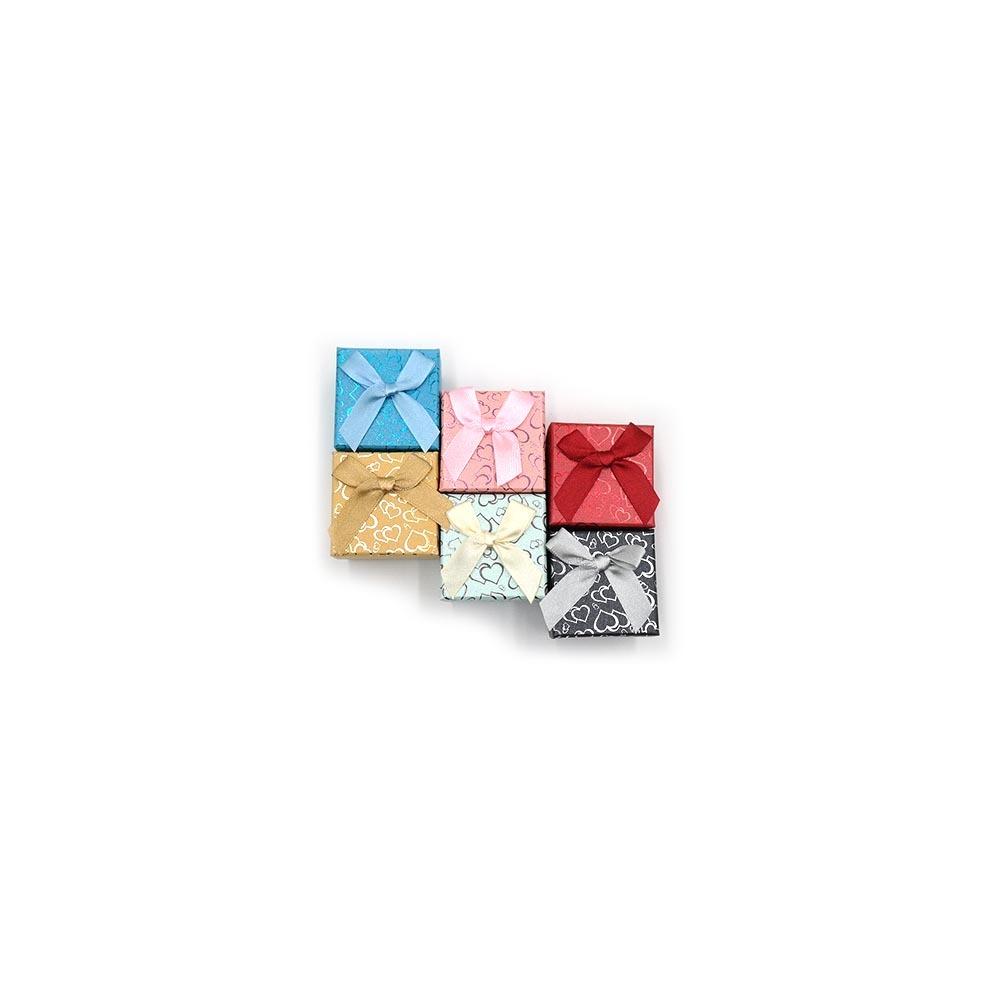 하트무늬 사각 반지케이스 5 x 5cm 24개입