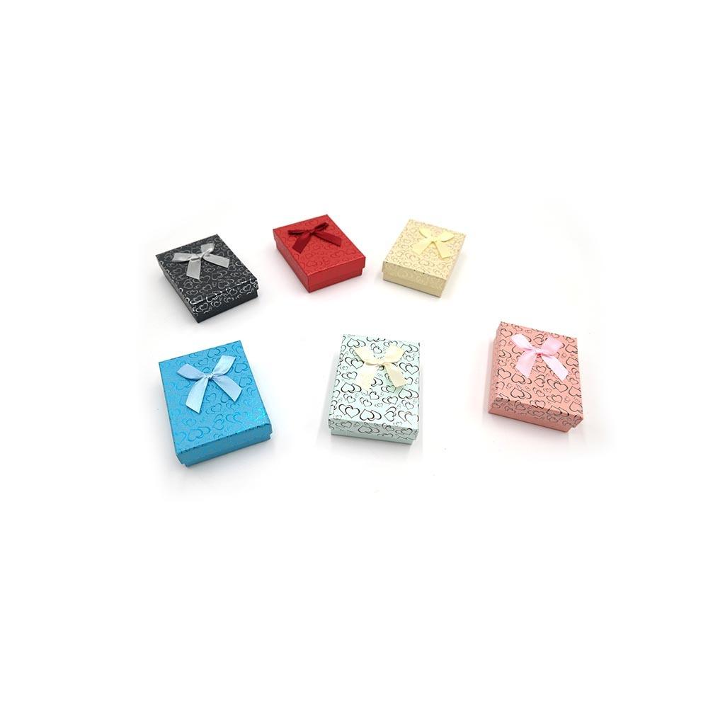 하트무늬 사각 반지케이스 7 x 9 x 3cm 12개입