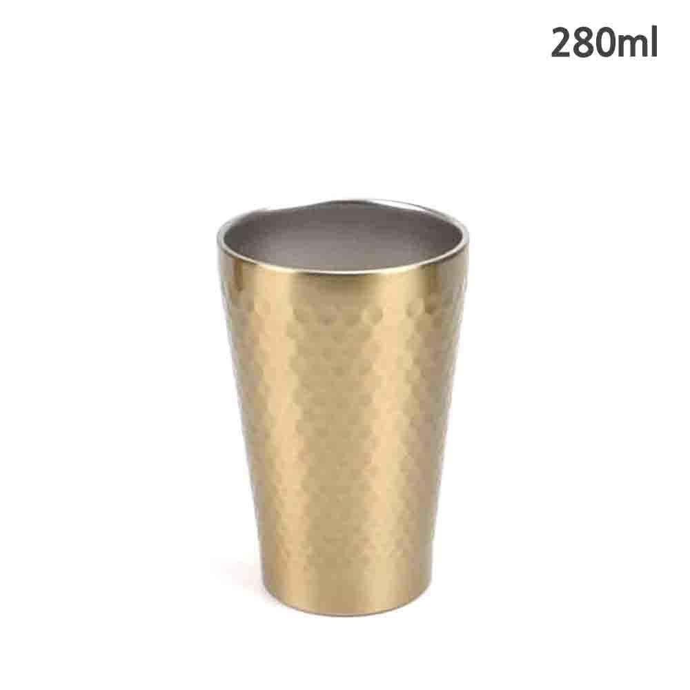 보온보냉 티타늄 이중 벌집컵 280ml