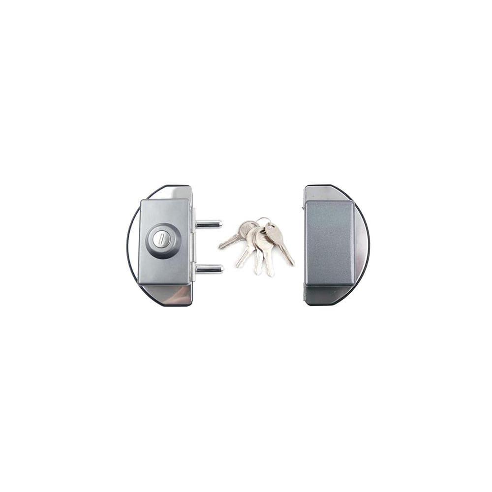 강화유리문용 반달형 양문 도어락 G-310 열쇠포함