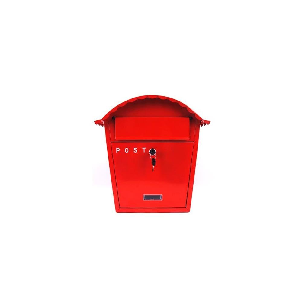 철제 하우스 우편함 빨강