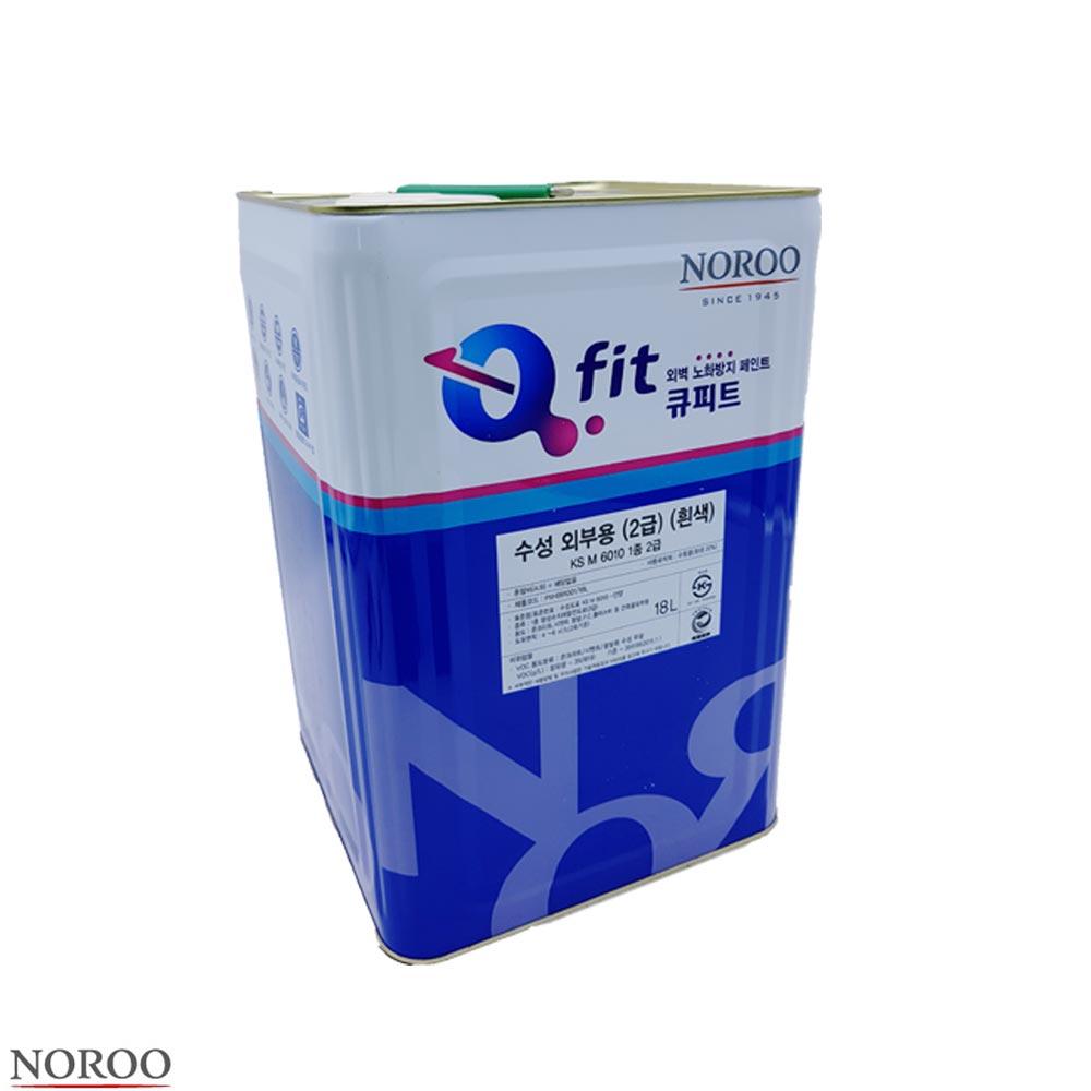 수성페인트 외부용 KS M 6010 1종 2급 흰색 18L