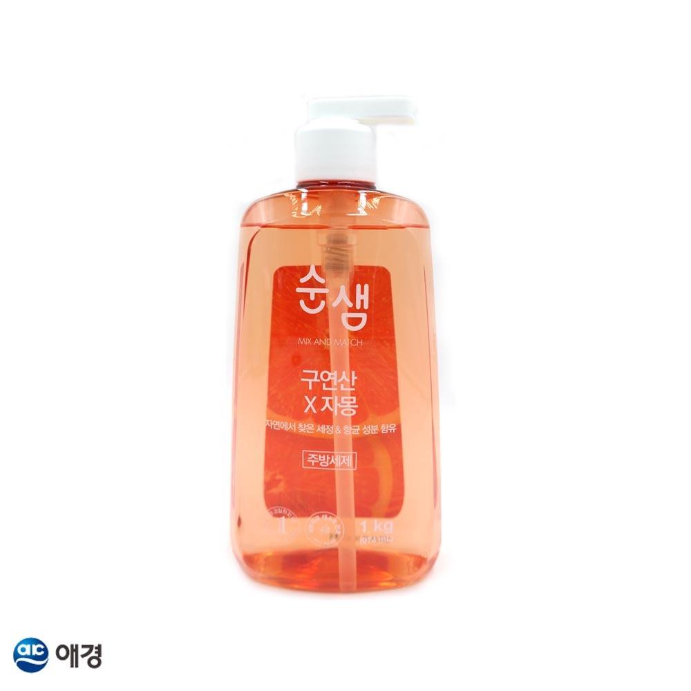 순샘 구연산 자몽 주방세제 1kg 용기 1EA