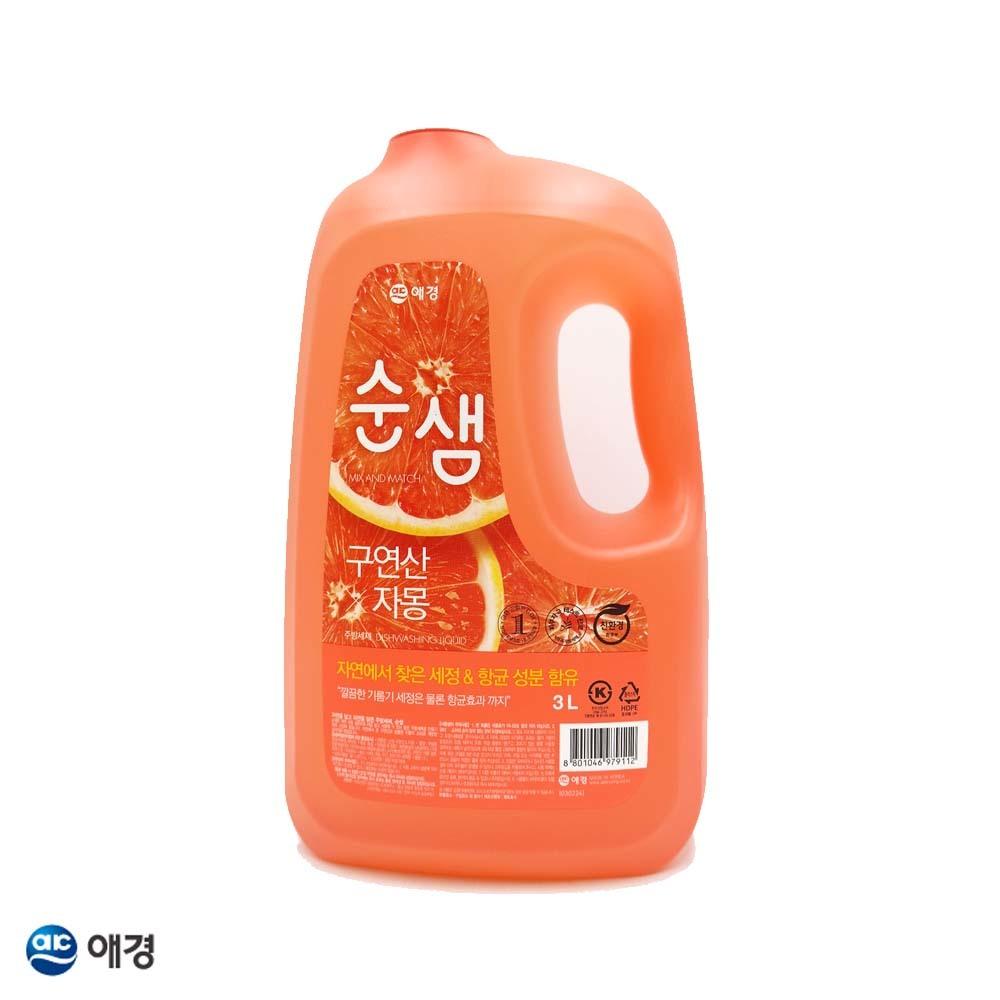 순샘 구연산 자몽 주방세제 3L 용기 1EA
