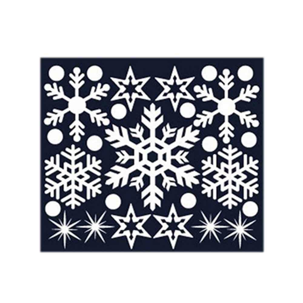 N7 크리스마스 스티커 장식 겨울눈꽃 01