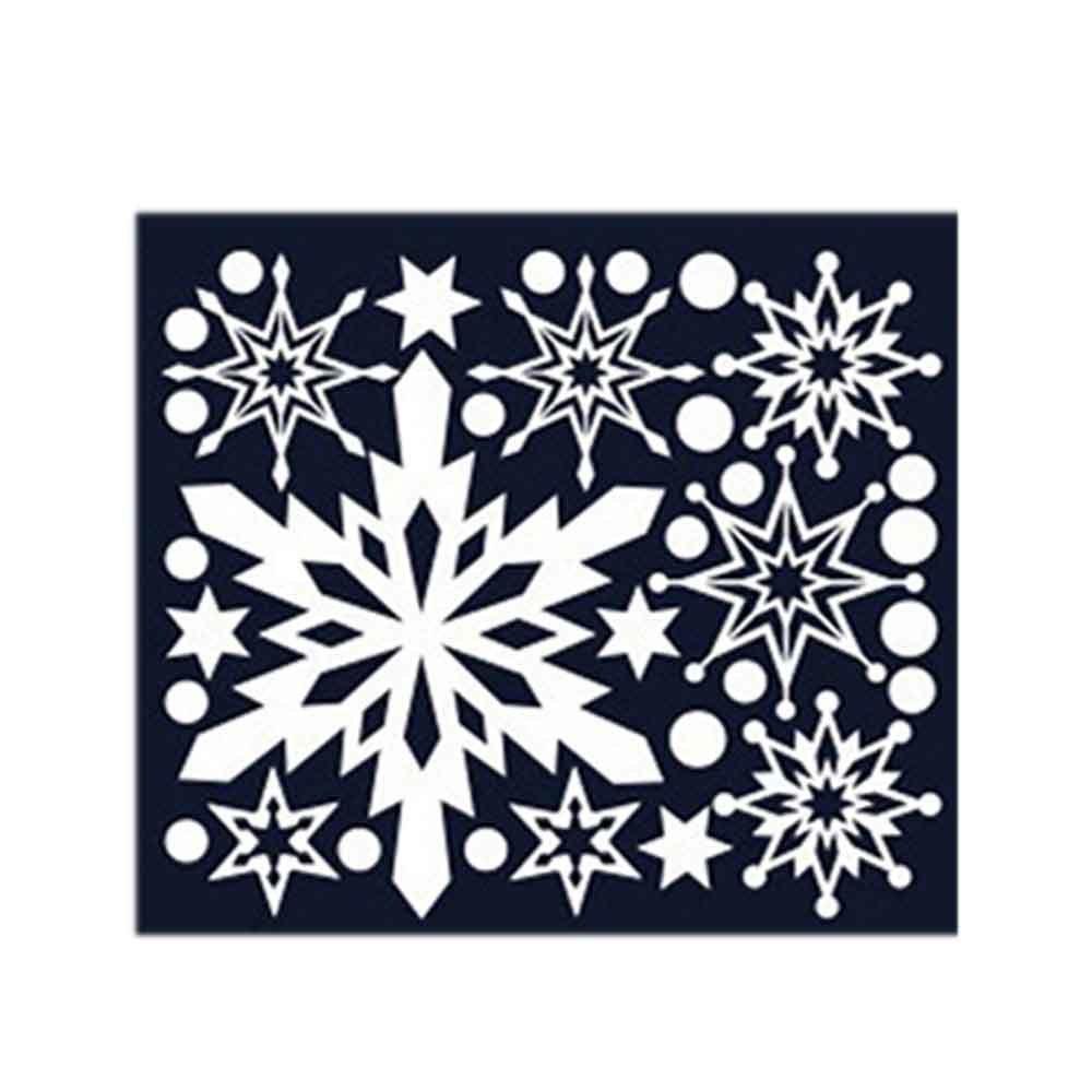 스티커 장식 겨울눈꽃 크리스마스 09