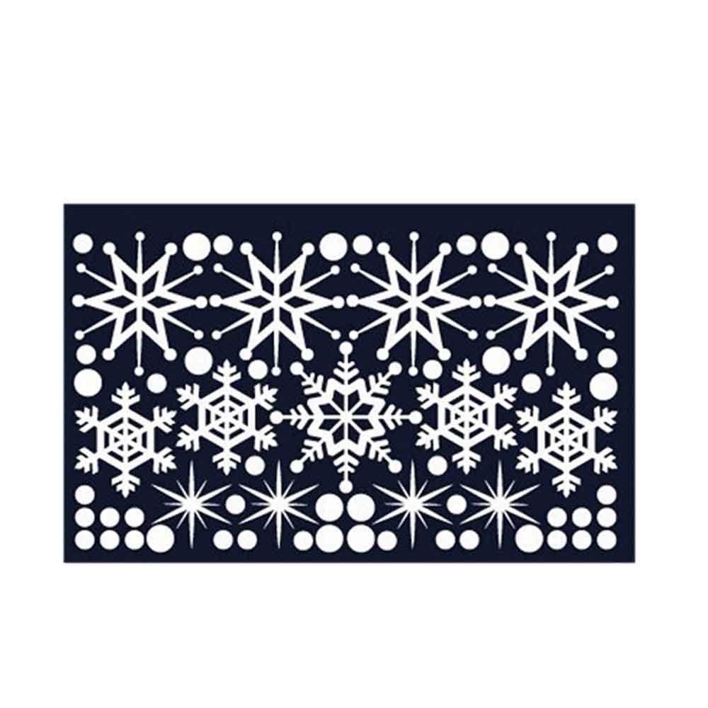 01 중형 크리스마스 장식 스티커 겨울눈꽃