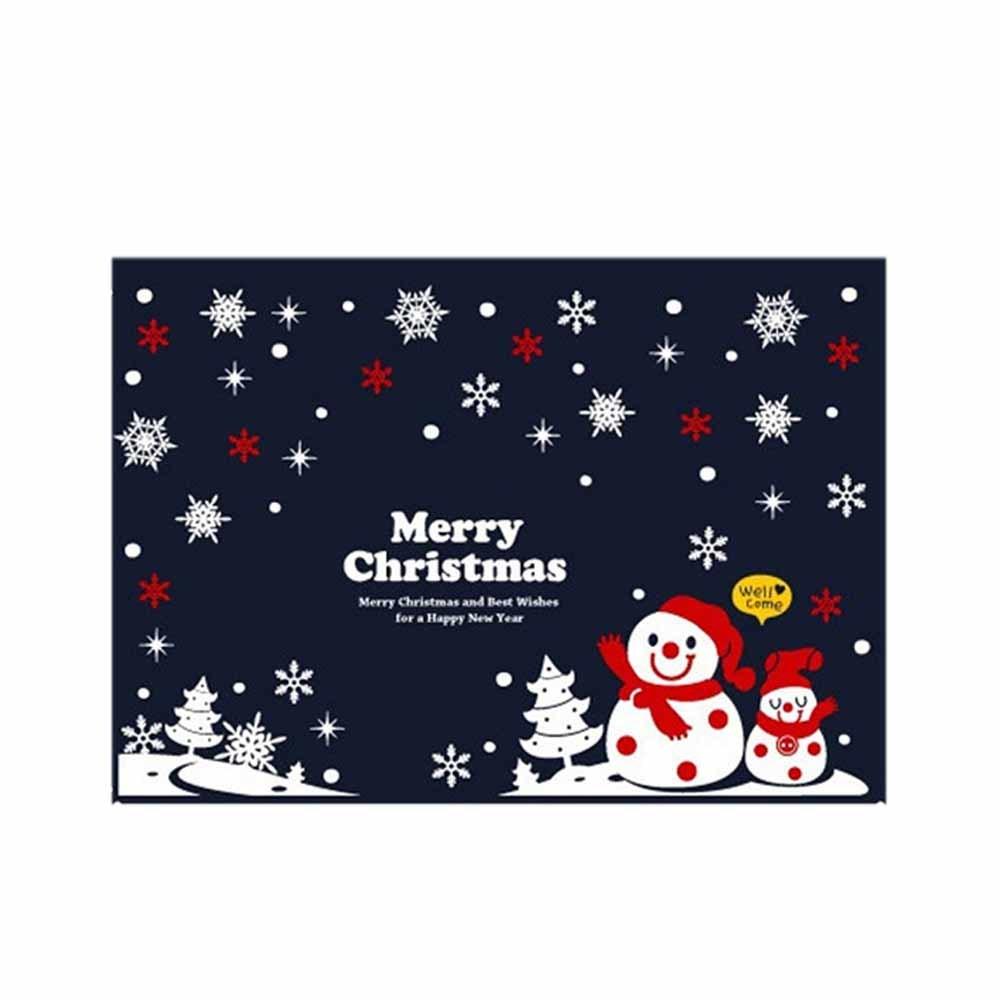 N7 크리스마스 스티커 장식 동글동글 눈사람 대형