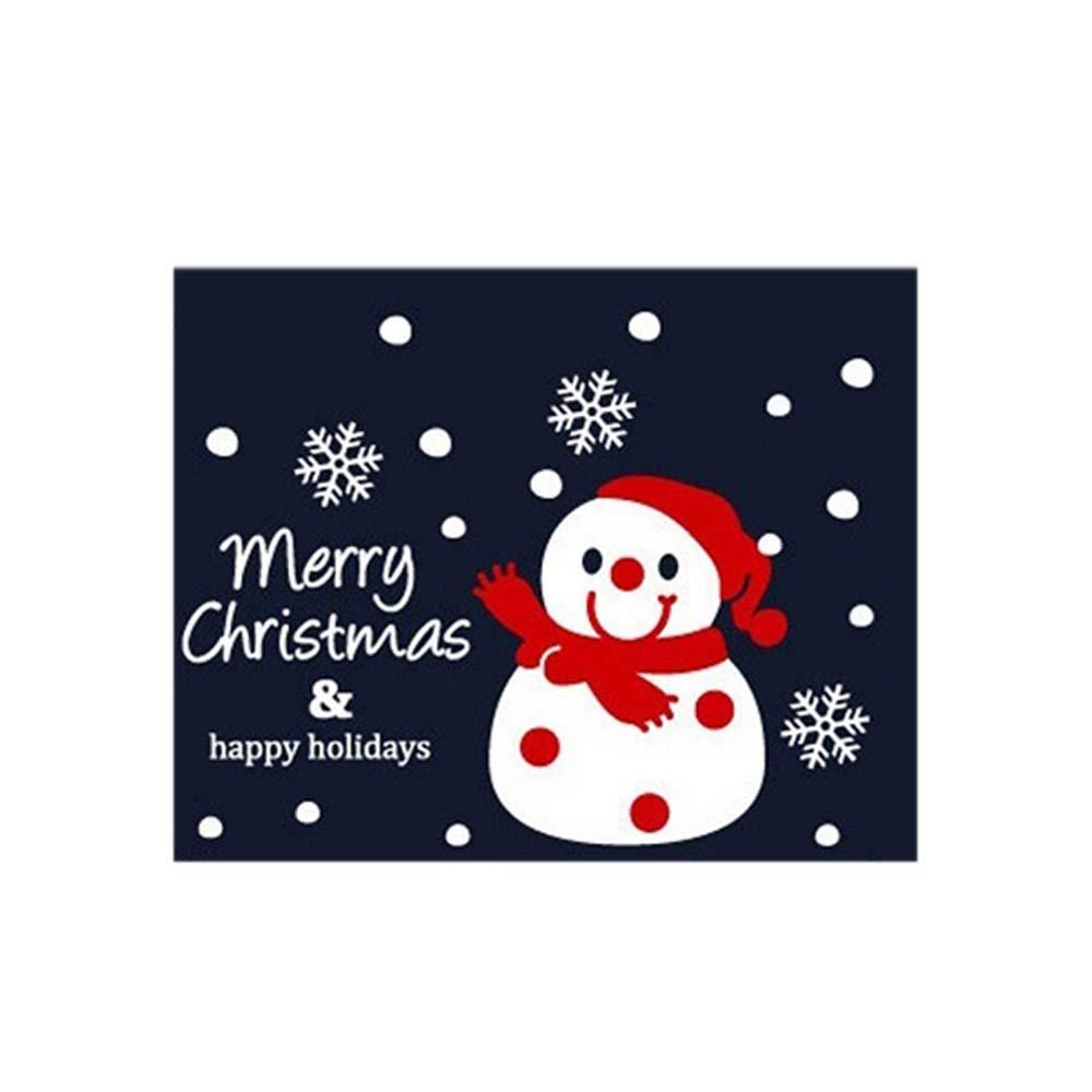 크리스마스 소형 장식 눈사람 스티커 동글동글