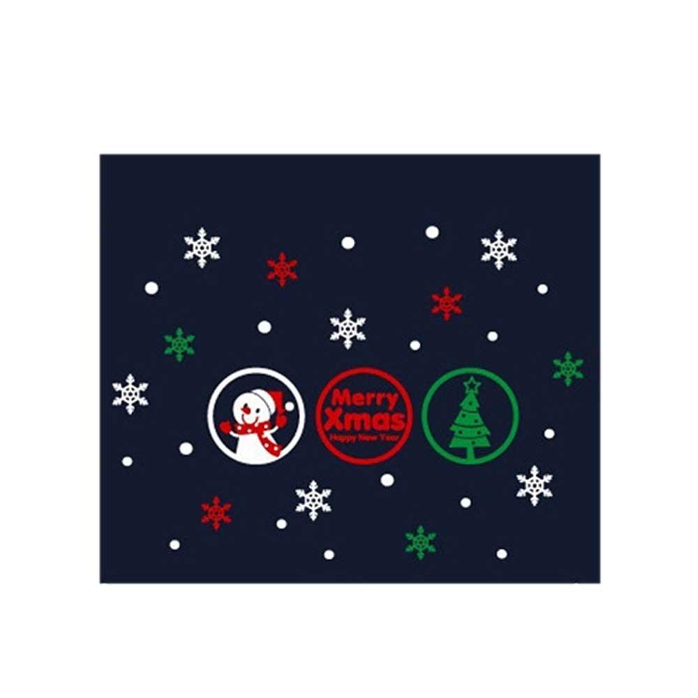 N7 크리스마스 스티커 장식 룰루랄라 눈사람 모빌