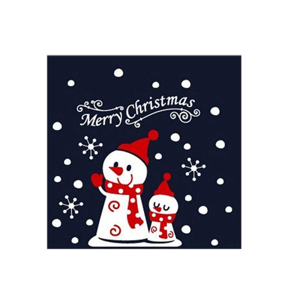 스티커 룰루랄라 눈사람 장식 소형 크리스마스