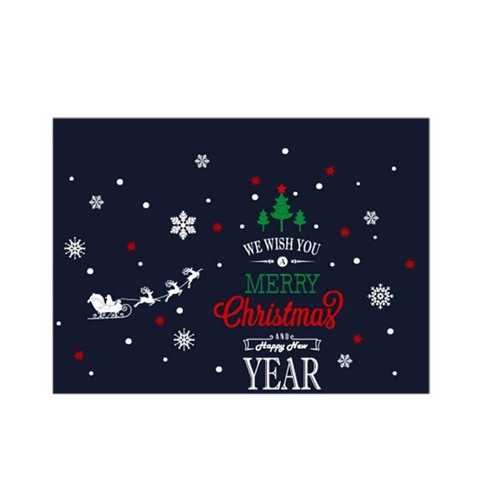 N7 크리스마스 스티커 장식 러블리 이니셜 3색
