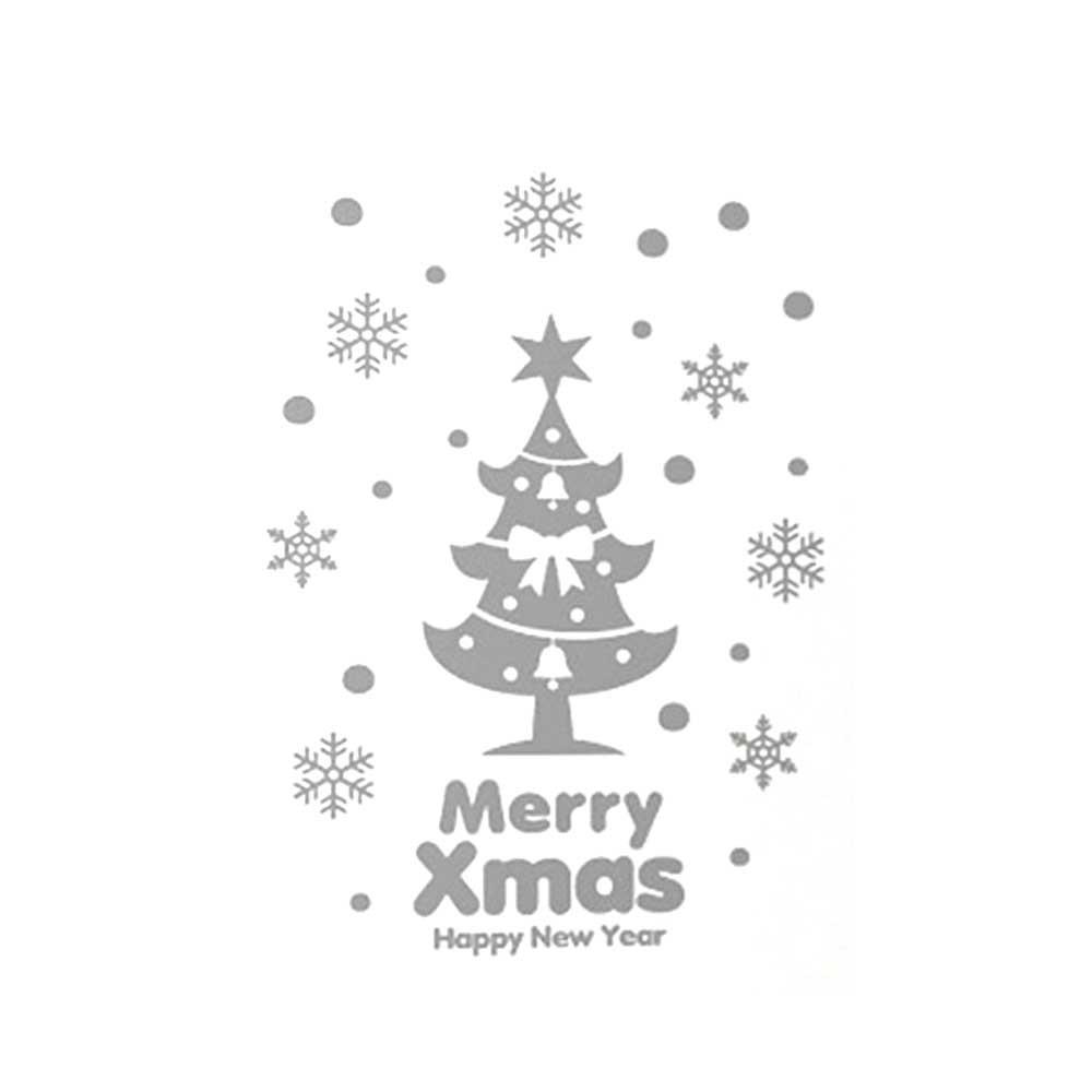 N7 크리스마스 스티커 장식 성탄절 트리 01 그레이