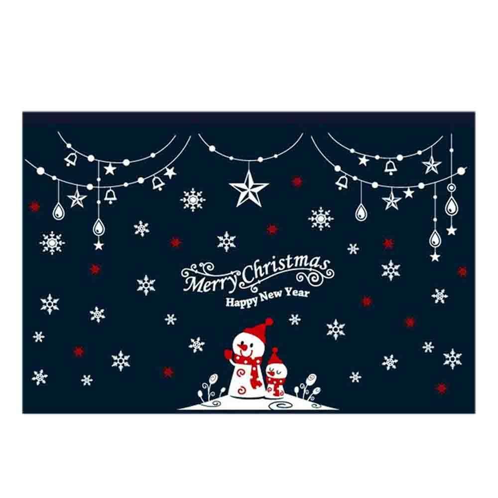크리스마스 스티커 장식 반짝이는 성탄절 눈사람 02