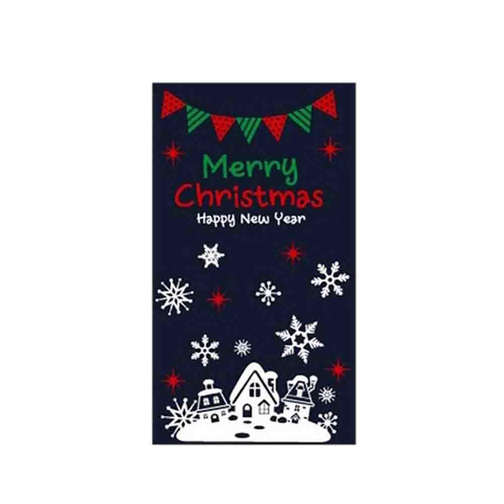 크리스마스 스티커 장식 눈내린 성탄절마을 가랜드